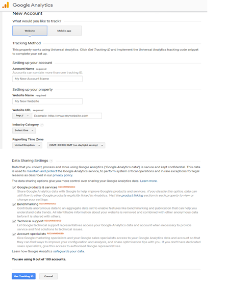 Set Up your Google Analytics account