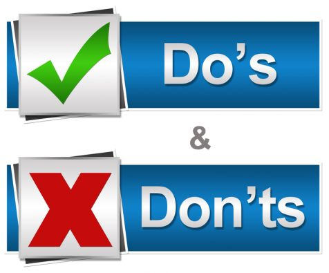 Do's and Don'ts on a Live chat